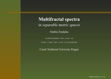 Multifractal spectra