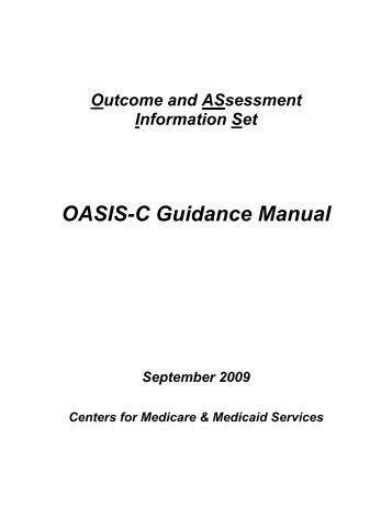 OASIS C CMS Regulatory Guidance - Selman-Holman & Associates