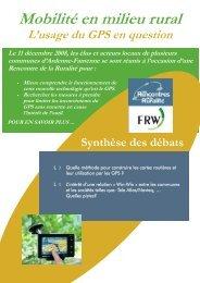 Téléchargez la synthèse - Fondation rurale de Wallonie