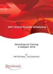 Workshop & Training 2. Halbjahr 2010 - Redwood Software