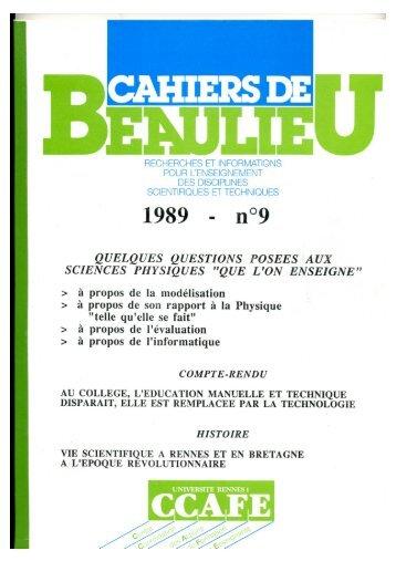 Vie scientifique à Rennes et en Bretagne à l ... - IREM de Rennes