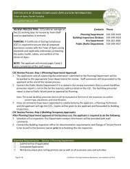 certificate of zoning compliance application information - Town of Apex