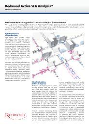Datasheet Redwood Active SLA Analysis Predictive Monitoring with