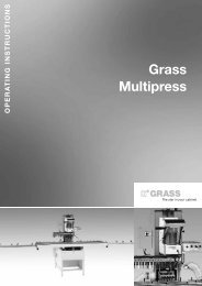 7. operating the multipress - Grass