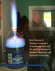 20130616-REPORT-threats-to-Canadas-groundwater-from-oil-gas-industrys-methane-migration-and-hydraulic-fracturing