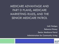 Medicare Advantage and Part D Plans, Medicare Marketing Rules ...