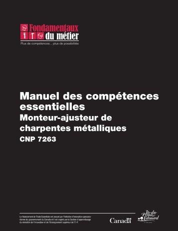 Manuel des compétences essentielles : Monteur-ajusteur de ...