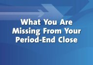 What You Are Missing From Your Period-End Close