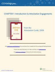 Introduction to Attestation Engagements - CCH
