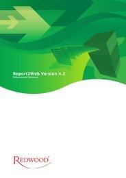 Report2Web Version 4.2 - Redwood Software