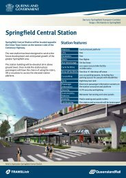 Springfield Central Station factsheet - Queensland Rail