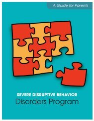 Severe Disruptive Disorders Program - A Guide for Parents Child ...