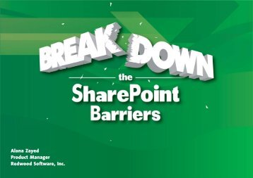 What Microsoft Didn't Tell You About SharePoint - Redwood Software