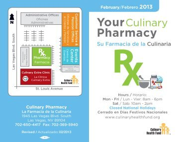 Your Pharmacy - the Culinary Health Fund