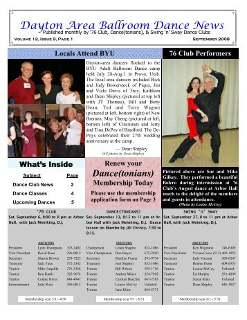 12 09September2008Newsletter - Ballroom Dance Dayton