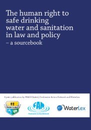 The human right to safe drinking water and sanitation in ... - WaterLex