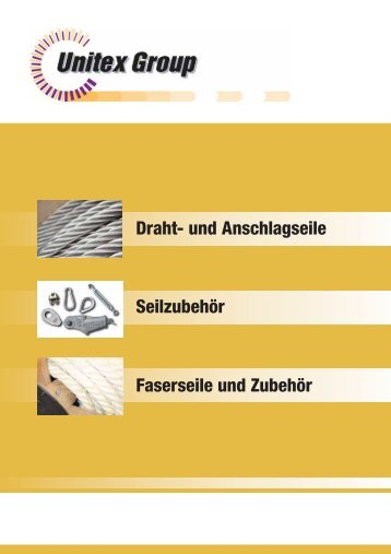 Drahtseile / Anschlagseile - Seil-Baur GmbH