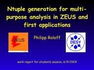 Ntuple generation for multi- purpose analysis in ZEUS ... - Zeus - Desy