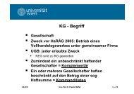 KG - Begriff