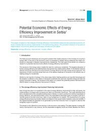 Potential Economic Effects of Energy Efficiency Improvement in Serbia