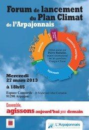 Forum de lancement du Plan Climat