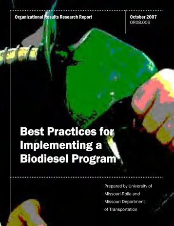 Best Practices for Implementing a Biodiesel Program