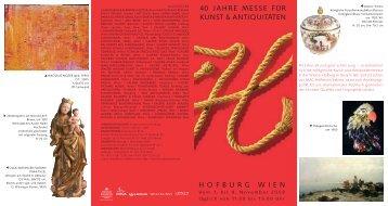Hofburg Wien 40 JaHre Messe für Kunst & antiquitäten