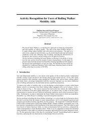Activity Recognition for Users of Rolling Walker ... - Researcher
