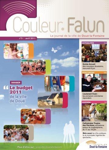 Couleur Falun 9 - Avril 2011 [pdf - 4Mo] - Doué-la-Fontaine