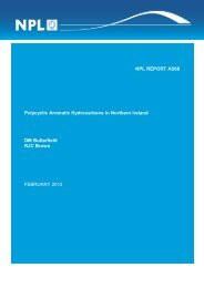 Polycyclic Aromatic Hydrocarbons in Northern Ireland - UK-Air - Defra