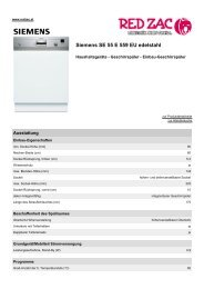 Produktdatenblatt Siemens SE 55 E 559 EU edelstahl - Red Zac