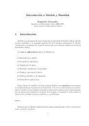 Introducción a Matlab y Simulink 1. Introducción