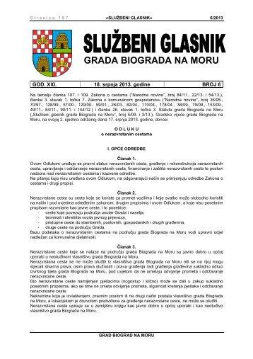 Službeni glasnik Grada Biograda na Moru - broj 6/13 - Grad Biograd ...