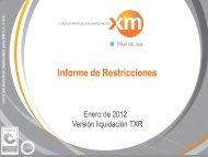 Levantamiento y Mitigación de Restricciones - XM