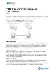 TIBCO Spotfire Environment - TIBCO Product Documentation