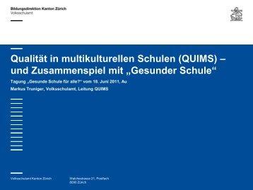 Qualität in multikulturellen Schulen (QUIMS) – und Zusammenspiel ...