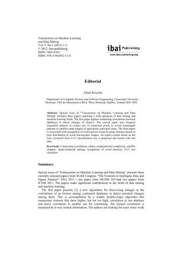 Download Editorial - ibai Publishing