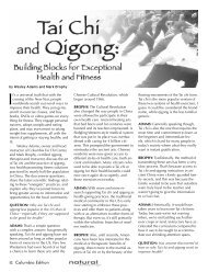 Tai Chi and Qigong Building Blocks for Exceptional Health and Fitness