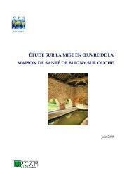 rapport mds Bligny final - ORS Bourgogne