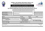 vessel life saving appliance check list - Sail Training International