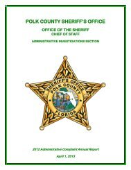 2012 Administrative Complaint Report.pdf - Polk County Sheriff's Office