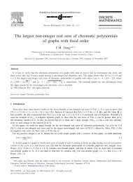 The largest non-integer real zero of chromatic polynomials of graphs ...