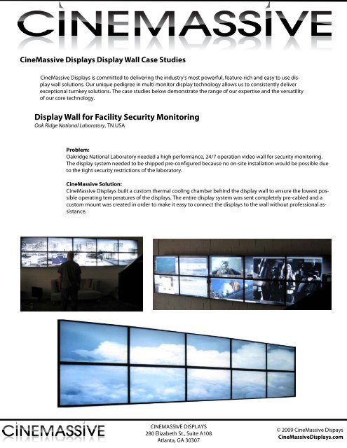 Display Wall for Facility Security Monitoring - Video Wall