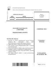 EGZAMIN MATURALNY Z HISTORII POZIOM ... - Sqlmedia.pl