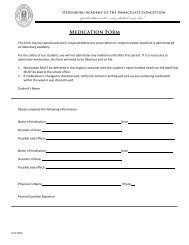 Oldenburg Academy's 2013-2014 Forms