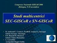 Studi SEC e linfonodo sentinella - GISCoR