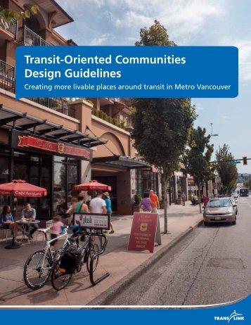Transit-Oriented Communities Design Guidelines - Transportation ...