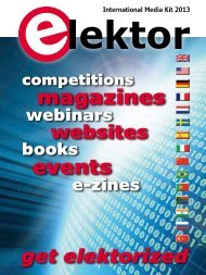 International Media Kit 2013 - Elektor