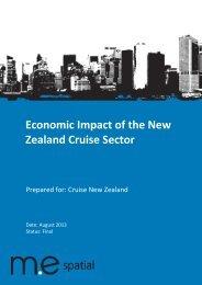Cruise New Zealand 2013 Economic Impact Report - Tourism New ...