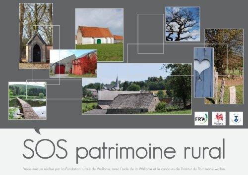 SOS patrimoine rural - Fondation rurale de Wallonie